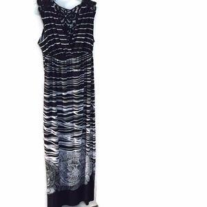 Carol little black and white long dress